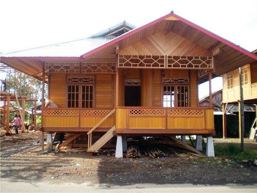 rumah kayu rumah impian pinterest