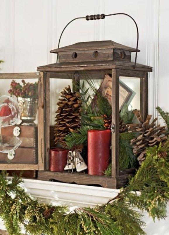 Cozy Winter Mantle Decor Ideas | Christmas | Pinterest