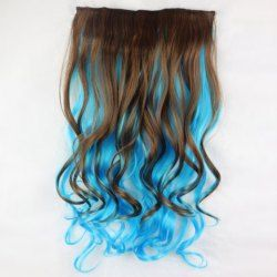 Light brown hair with blue