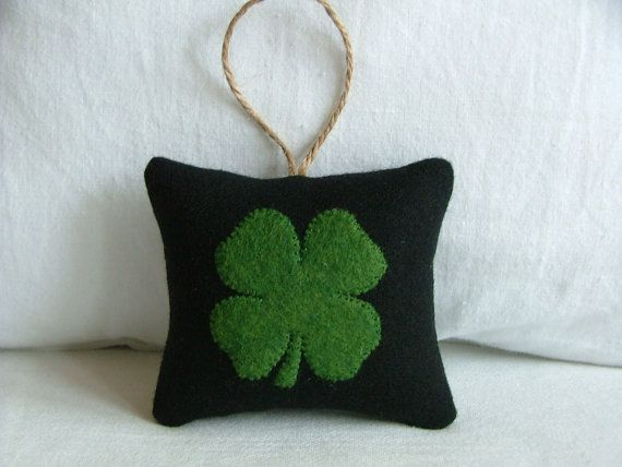 four leaf clover pillow perfect for your wall space