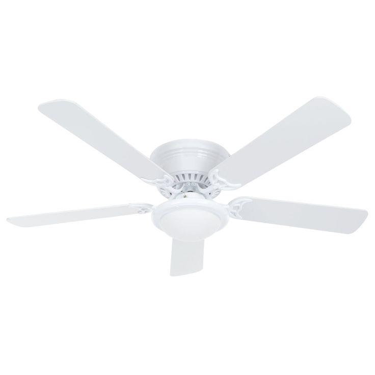 Hampton Bay Ceiling Fan. Hugger 52 in. White Ceiling Fan AL383-WH
