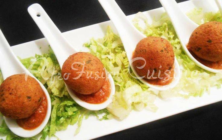 Blackeye pea croquettes (akara) | Cuisine: Nigerian | Pinterest