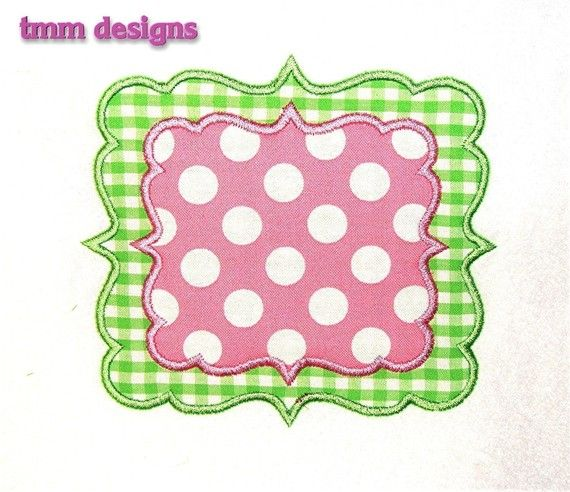 Machine Embroidery Design Joy Applique Frame INSTANT DOWNLOAD
