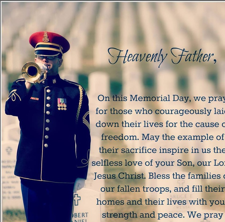 prayer for memorial day sunday