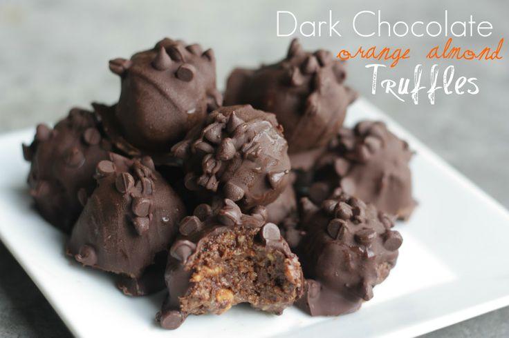 Dark Chocolate Orange Almond Truffles | truffles | Pinterest