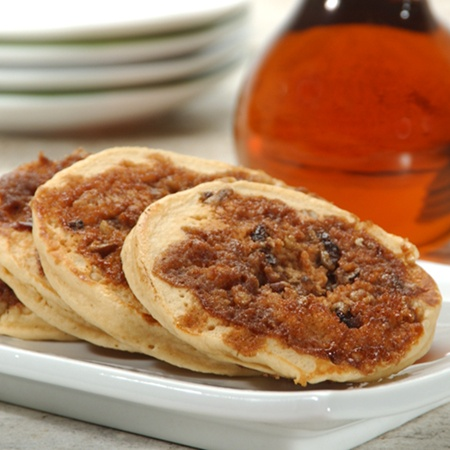 cinnamon streusel pancakes step by step directions and tips