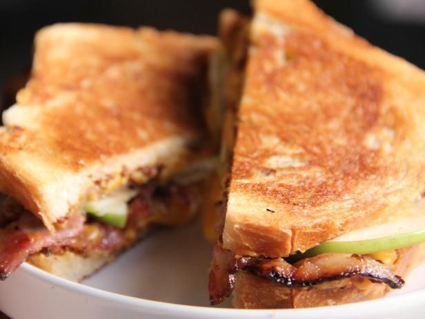 ... grilled cheese sandwich with spicy mustard, sharp cheddar and crispy