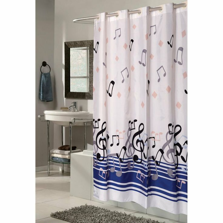 Piano Musical Note Shower Curtain | Cool Shower Curtain | Pinterest