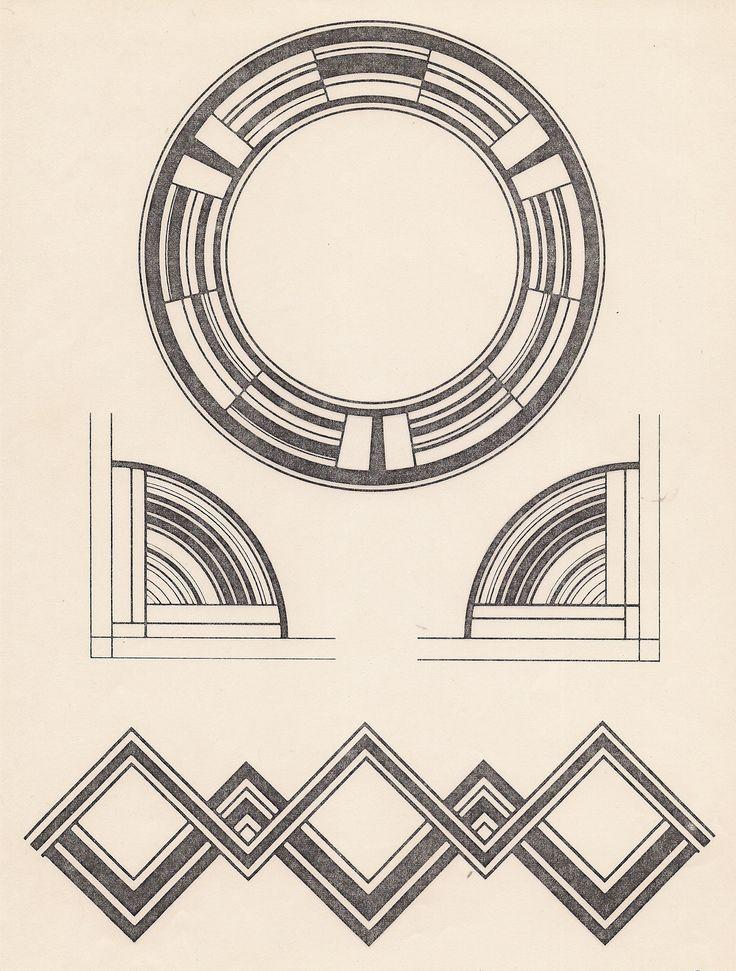 Art Deco Design Design Motifs Patterns Pinterest