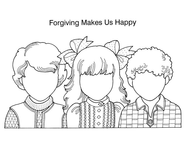Coloring Sheets About Forgiveness