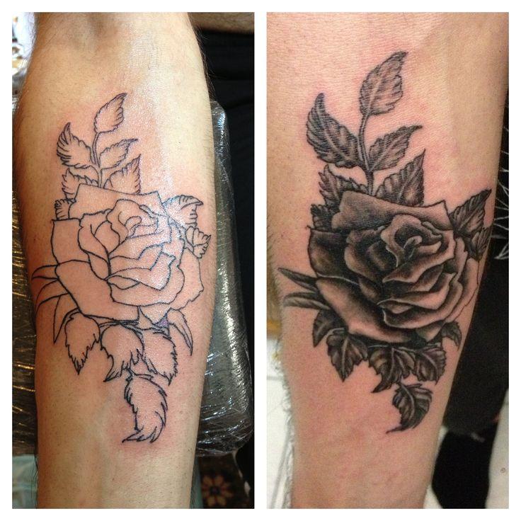 Rose Tattoo Black And White