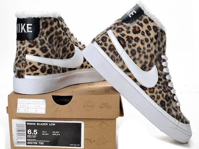 Nike SB Blazer High Leopard Shoes Women