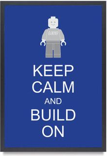 Legoman Lego Minifigure Keep Calm And Build On by Bardaron - kids decor - by Etsy