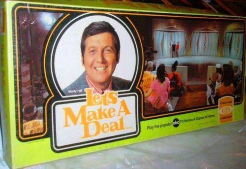 Let s make a deal board game 1974 vintage board games card games et