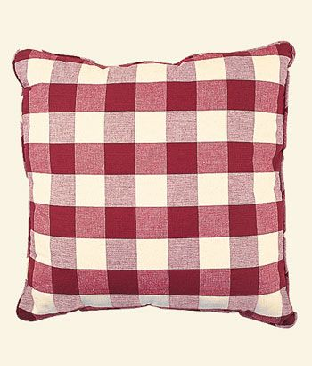 Pillows Buffalo Check Square Pillow Country Curtains 174 Polyvore