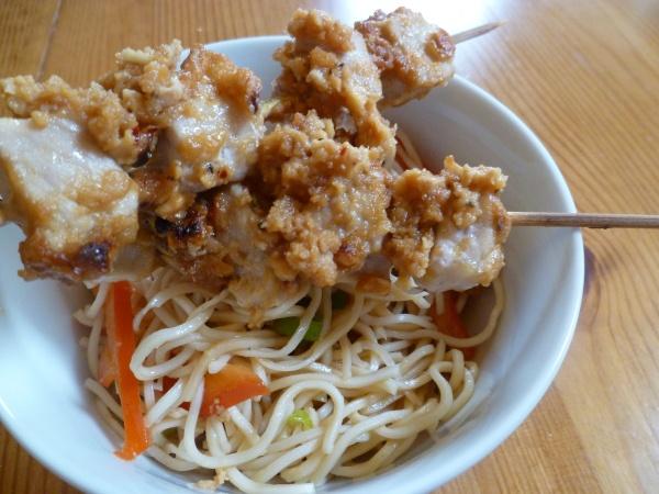 Pork Satay with Cold Noodle Salad | food | Pinterest