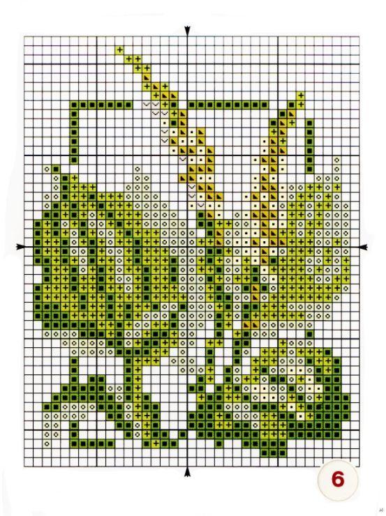 Вышивка травы схемы 57