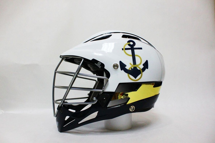 The 2013 Navy Men's Lacrosse Rivalry Helmet!