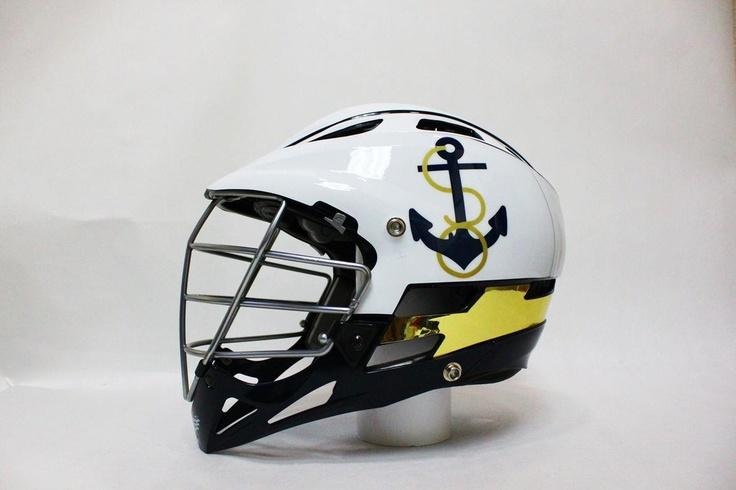 The 2013 Navy Men's Lacrosse Rivalry Helmet!