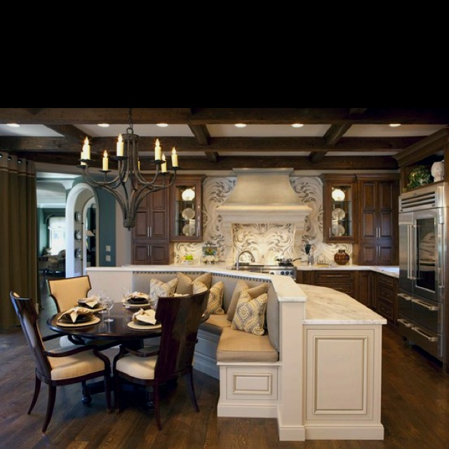 big island with seating area love it kitchen pinterest