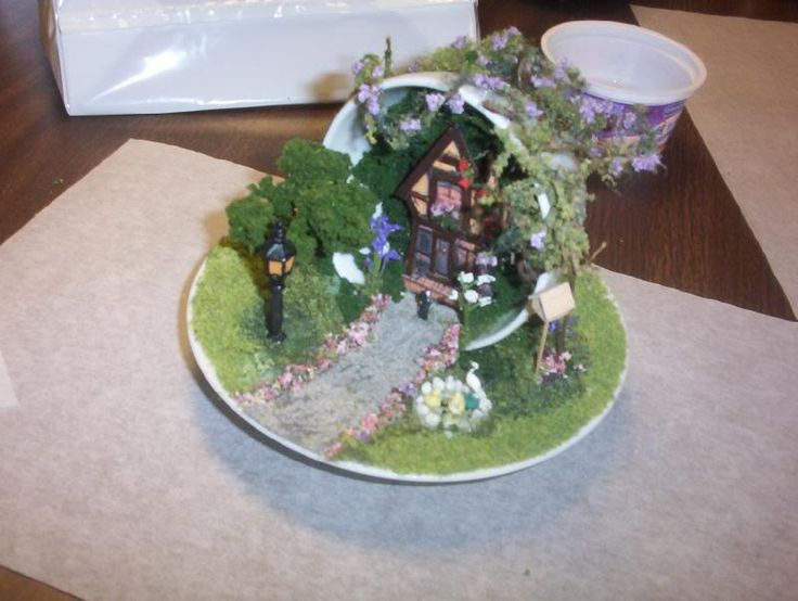 mini teacup fairy home and garden | Miniature teacups & teapots | Pin ...