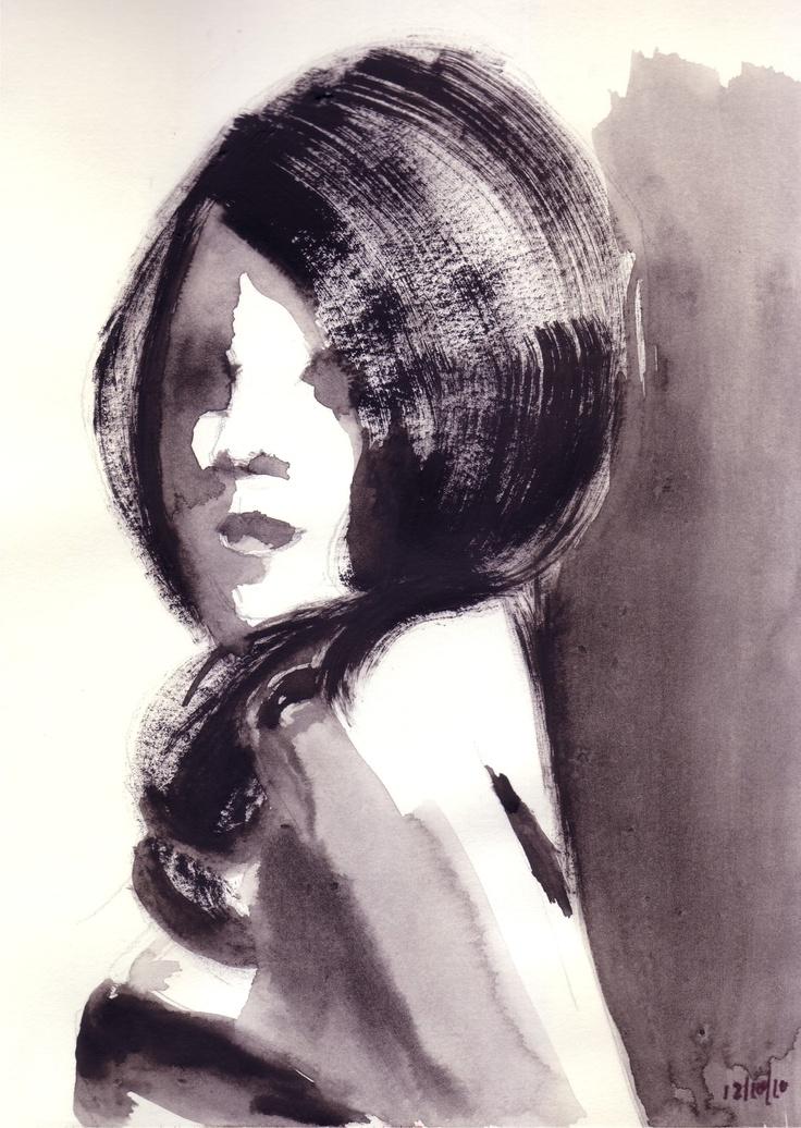 silky black hair by Barbara von Tannenberg (me)