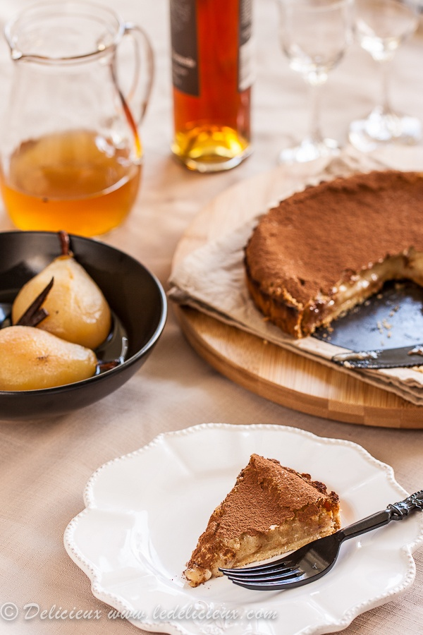 Pear Tart with Vanilla Bean & Pedro Ximinez Poached Pears | Recipe
