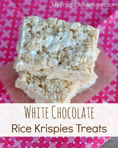 White Chocolate Rice Krispies Treats Recipe- ... | **BEST DESSERTS!**