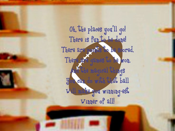 toddler sports wall decals : Sports Football and Quote Wall Decal Baby  Nursery Decor