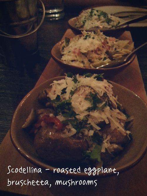 Scodellina - roasted eggplant, bruschetta, marinated mushrooms # ...