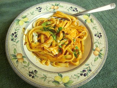 Radiatori With Tomato-Cream Sauce And Fresh Basil Recipes — Dishmaps