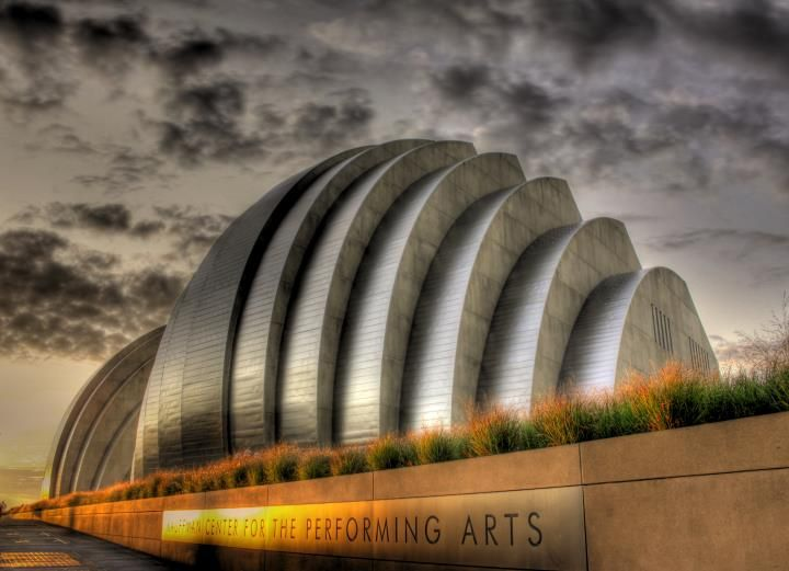 Kauffman Center for the Performing Arts, completed in 2012 in Kansas City, Missouri