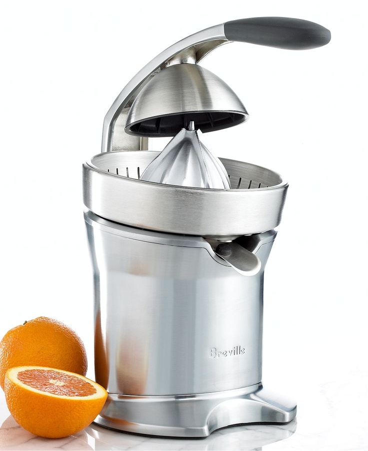 Best Rated Masticating Juicer : Breville 800CPXL Juicer, Motorized Citrus Press