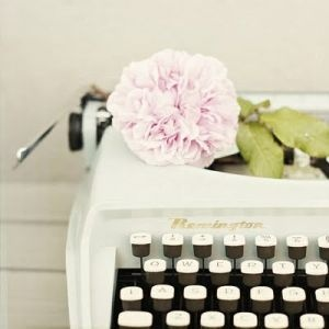 typewriter with flower - Living lusciously.jpg