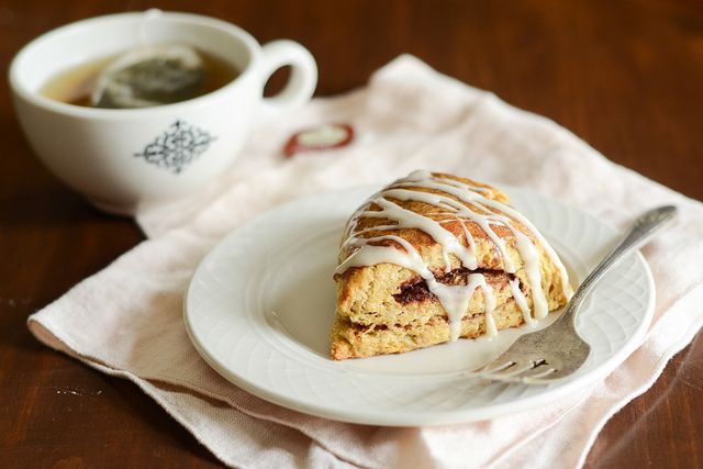 Pumpkin Cinnamon Roll Scones | Buttered Side Up by Erica Lea, via ...