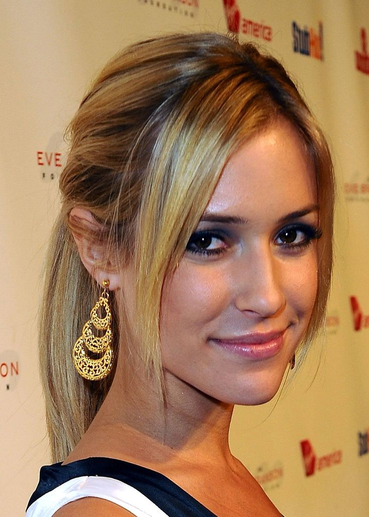 straight ponytail hairstyles : Ponytail hairstyles with straight bangs Braid & Ponytail Pinterest