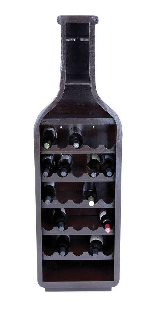 Wine bottle shaped wine rack stuff for the house pinterest - Wine rack shaped like wine bottle ...