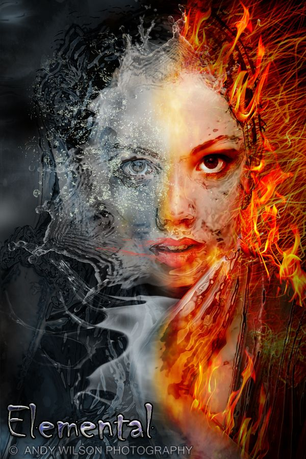 Elemental: Fire and Water by Andy Wilson, via 500px