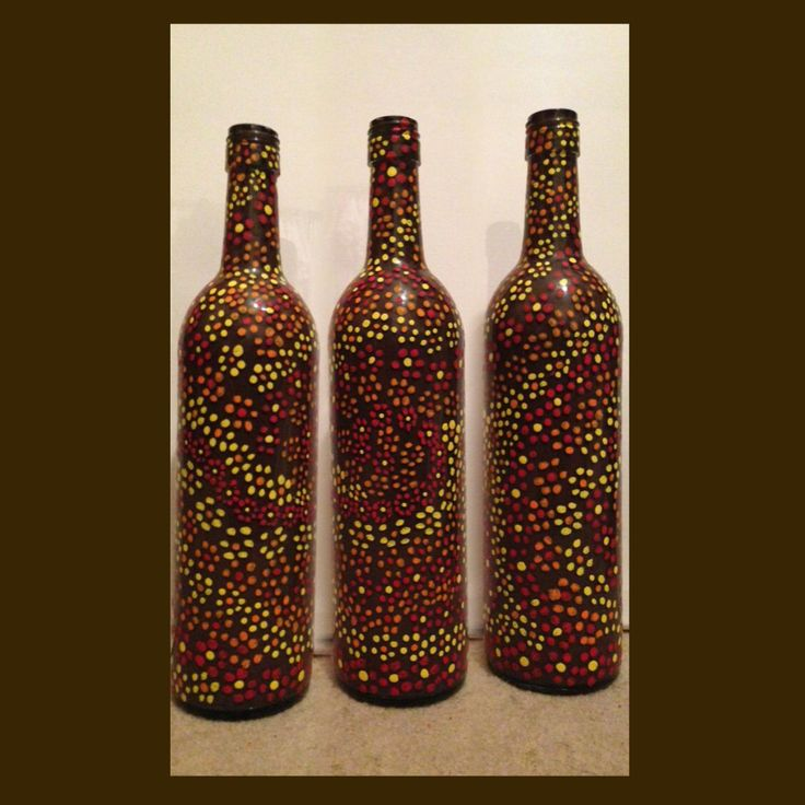 painted wine bottle home pinterest