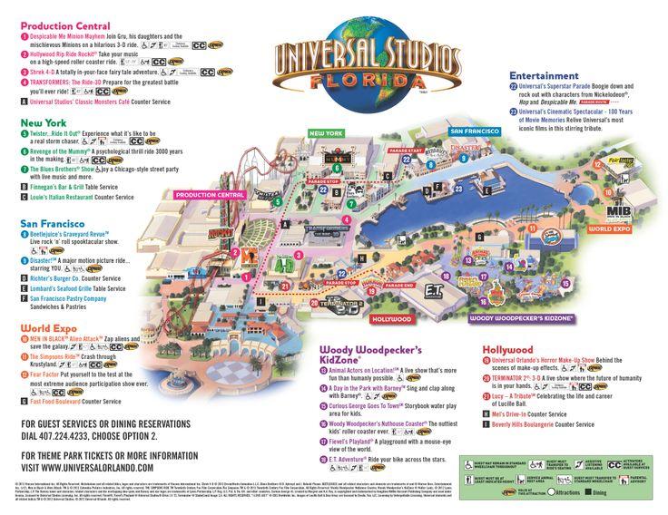 universal studios map | Disney World 2019 | Pinterest