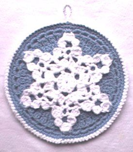 Snowflake Potholder crochet potholders / hot pads / dish ...