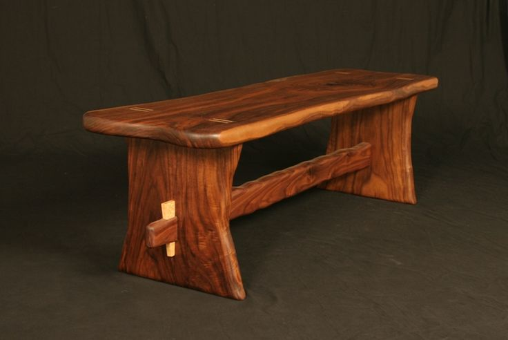 Natural Edge Walnut Bench Natural Edge Furniture Projects Pinte