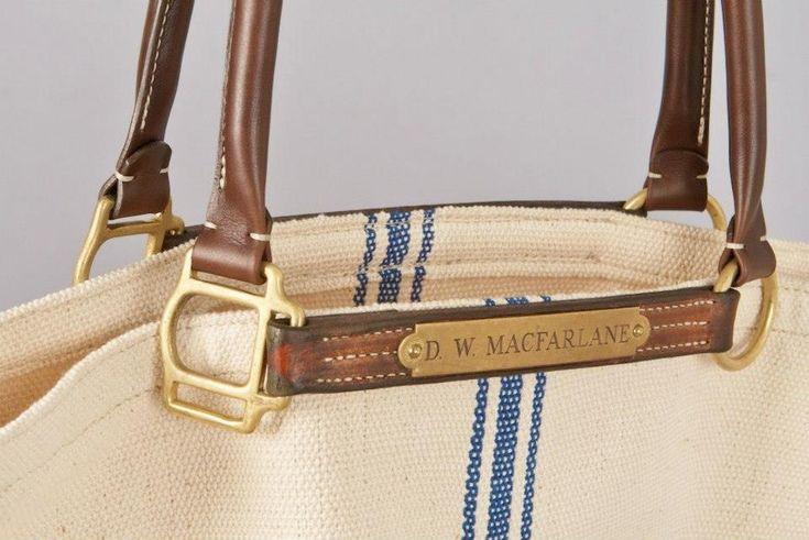 reclaimed halter bag   Phabbie market bag   by Pinnell Custom Leather.