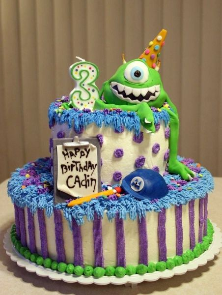 Monsters University party ideas. When I have a son... Blakey's birthday cake!