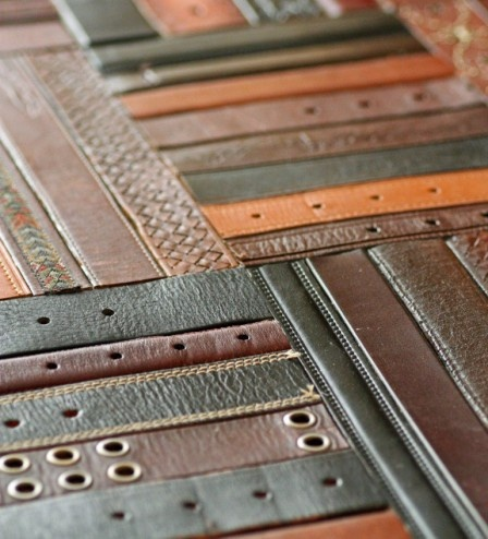upcycled leather belt flooring home design decor