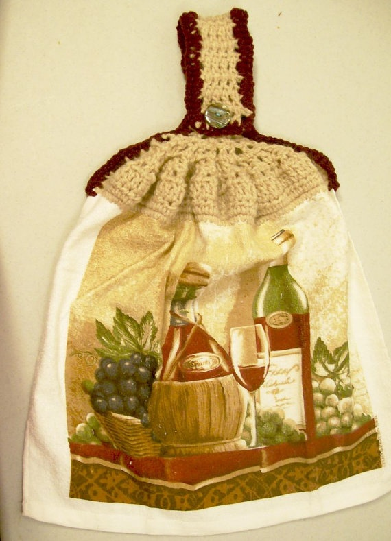 Hanging Dish Towelbottles And G Stan With By Barb70craftshop 6 00