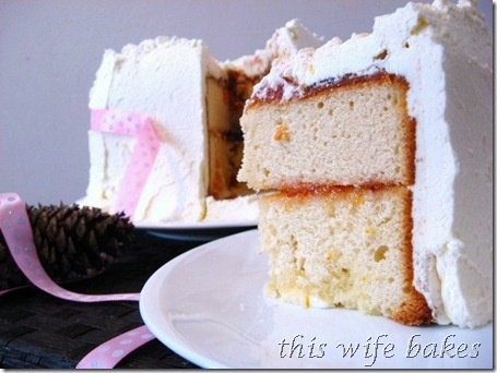 Chiffon Cake With Blood Orange Curd And Rich Vanilla Bean Buttercream ...
