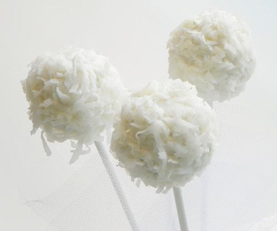 Cake Pops - Coconut Cake Pops, Cake on a Stick, Cake Truffles