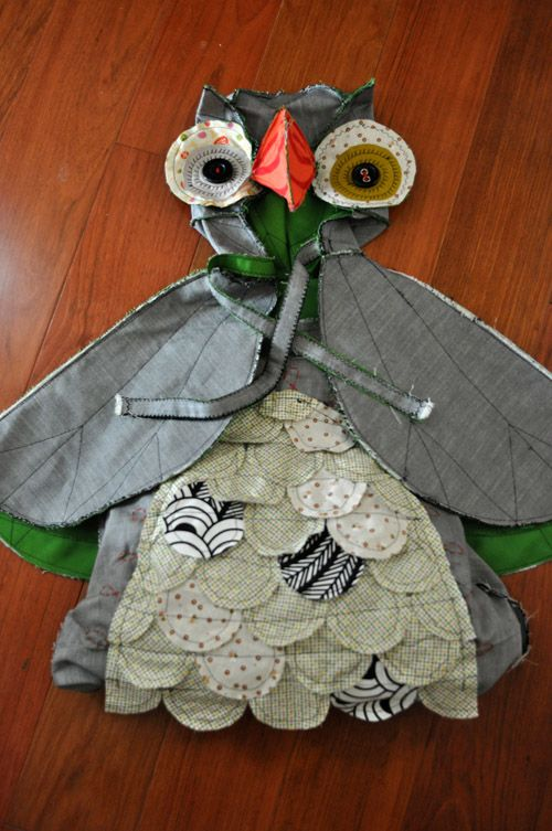 I love the idea, but even more the result. A cute little girl in a owl costume is always a win!