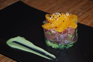 ... tartare yuzu jelly tuna the tuna tartare yellowfin tuna with wasabi